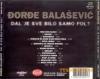 DJORDJE BALASEVIC DAL JE SVE BILO SAMO FOL Back 1